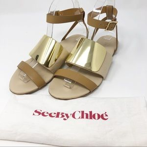 See by Chloe | Gold Plated Sandals